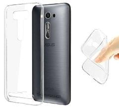 Asus Zenfone 2 Transparent Soft Ultra Slim Back Cover