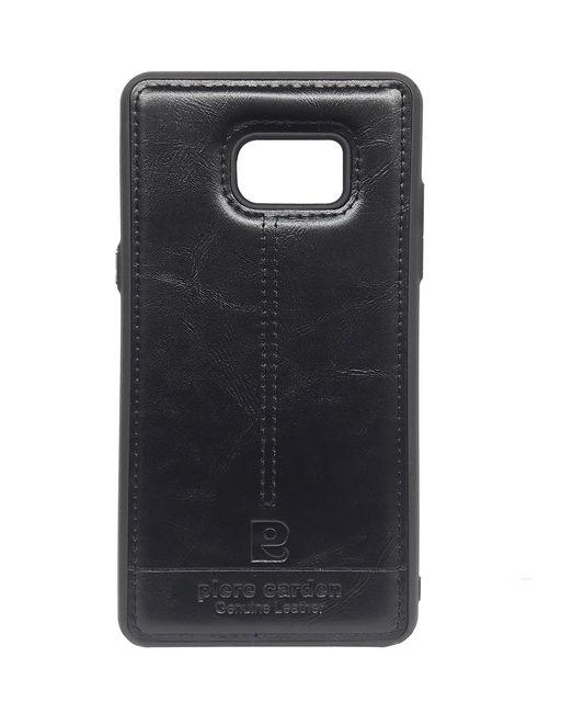 Samsung-Note7  Piere Carden Luxury Back Lather Case  ( Black)