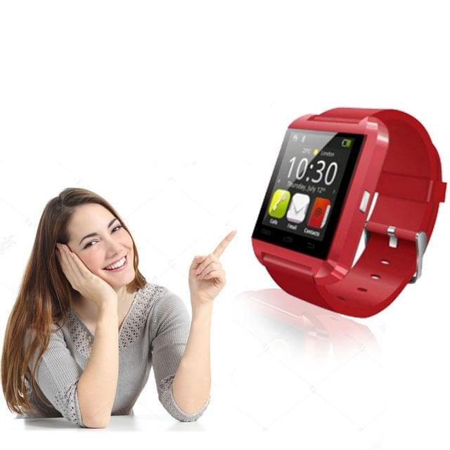 Bluetooth Watch international Wearable Technology Smart Watch (Red)