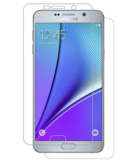 Samsung Galaxy Note5 Full Body Tempered Glass Screen Protector [ Full Body Edge to Edge ] [ Anti Scratch ] [ 2.5D Round Edge] [HD View]