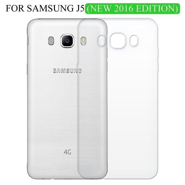 Samsung J5 (2016) Transparent Back Cover Edition 5.2 Inches Screen - TPU Silicon Back
