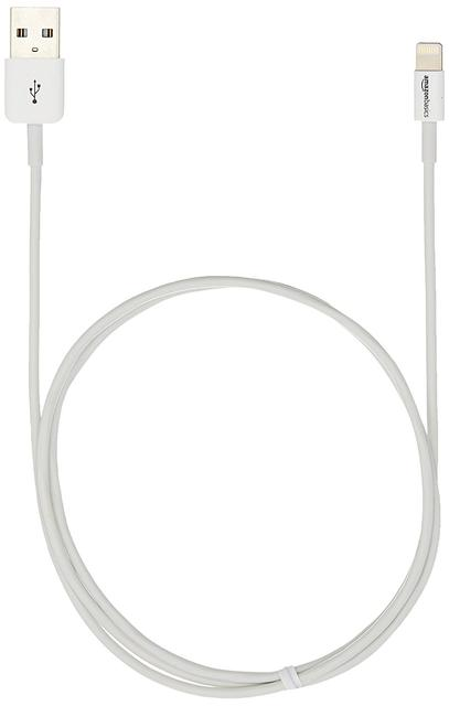 Lightning to USB Cable 3ft / 1m with Ultra-Compact Connector Head for iPhone 6 6Plus 5s 5c 5, iPad Air Air2 mini mini2 mini3, iPad 4th gen, iPod touch 5th gen, and iPod nano 7th gen (White)