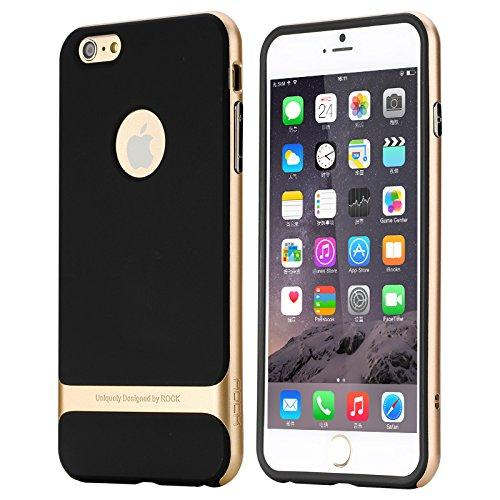 ROCK Royce-III Series Shockproof Dual Layer Back Case Cover with Stand for Apple iPhone 6 6S - Gold