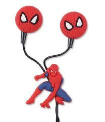 SPIDER-MAN Earphones character design Earbuds For All Mobiles -RED & BLACK