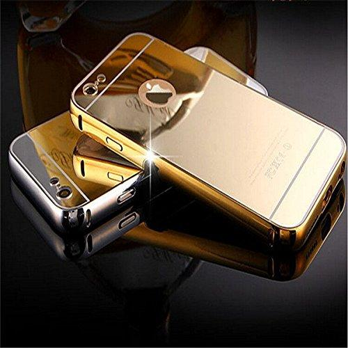 Apple iPhone 5s Metal Bumper Acrylic Mirror Back Cover Case