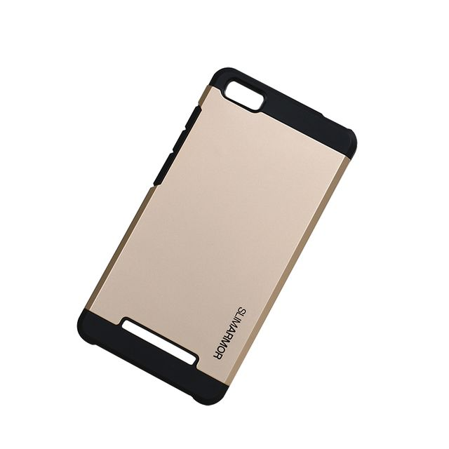 Xiaomi Mi 4i Premium Slim Armor Heavy Duty Back Case Cover-Gold
