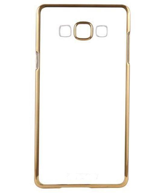 Samsung J7-2015 Silicon Transparent Back Cover Gold Golden