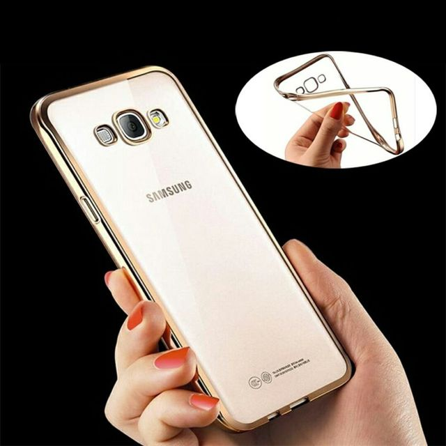 Samsung A7-2015 Silicon Back Cover Side Golden Border