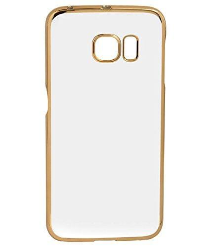 Samsung S6  Transparent Silicon Back Cover Side Golden Border