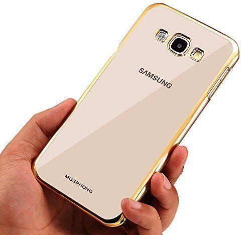 Samsung On5 Transparent Silicon Back Cover Side Golden Border