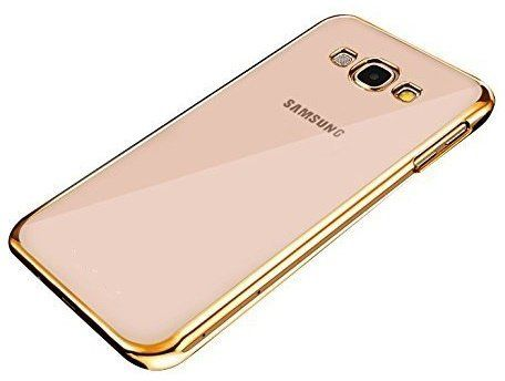 Samsung A3  Transparent Silicon Back Cover Side Golden Border