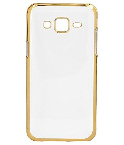 Samsung S6 Edge Plus  Silicon Transparent Back Cover Gold Golden