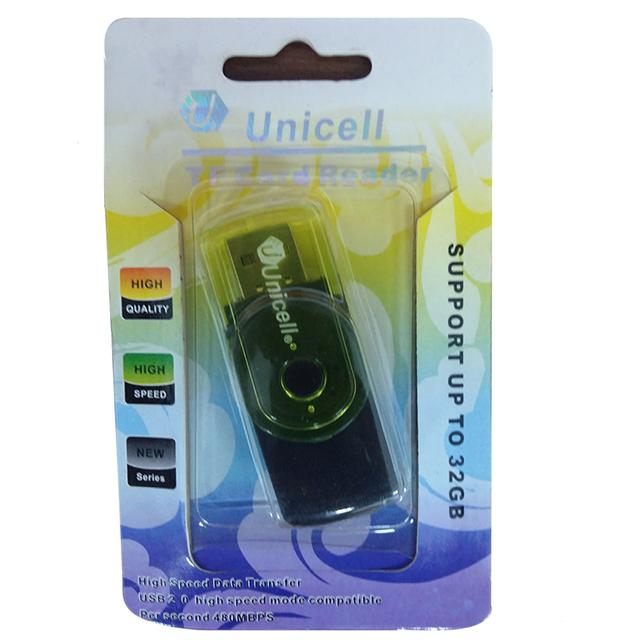Unicell Card Reader T flash card Micro SD card (Black)-Support upto 32GB