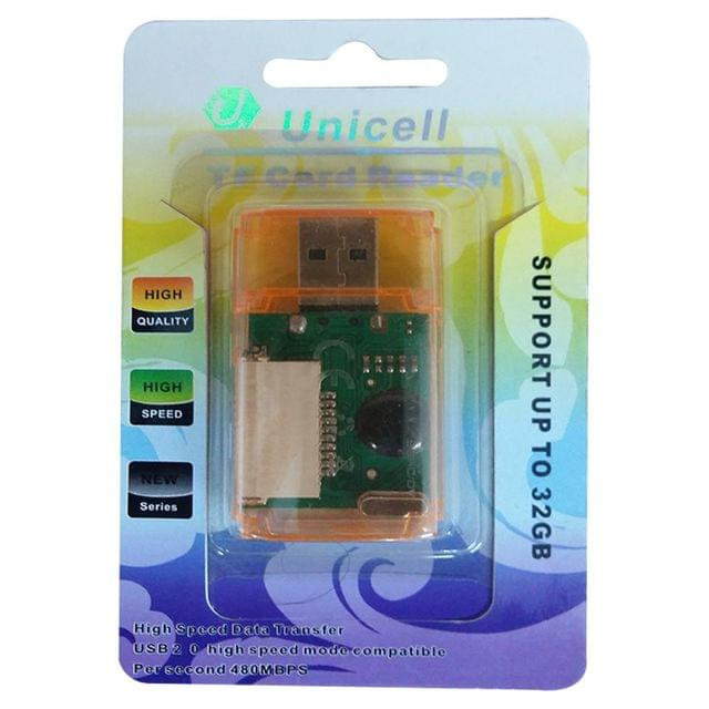 Unicell Card Reader T flash card Micro SD card-Support upto 32gb