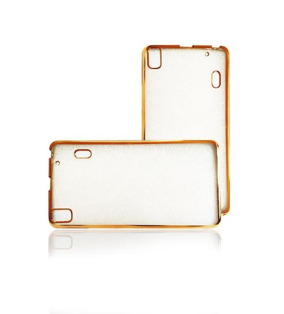 Lenovo A7000 Plus Side Border Golden Silicon Cover
