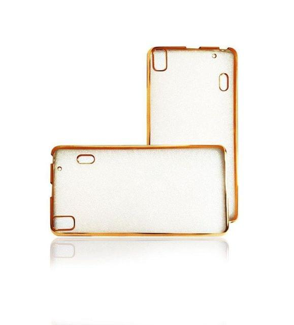 Redmi MI 4  Side Border Golden Silicon Cover