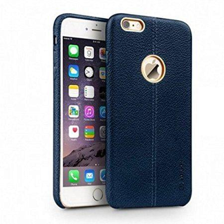 Apple iPhone 6 and 6s Vorson Leather Shell with Metallic Logo Display Back Cover-Blue