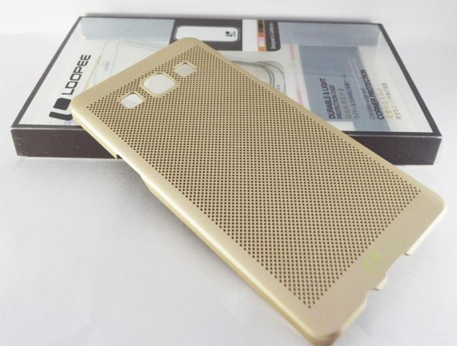 Samsung Galaxy J7  Loopee metal-effect Heat Dissipation Hollow Thin Case Cover-Gold