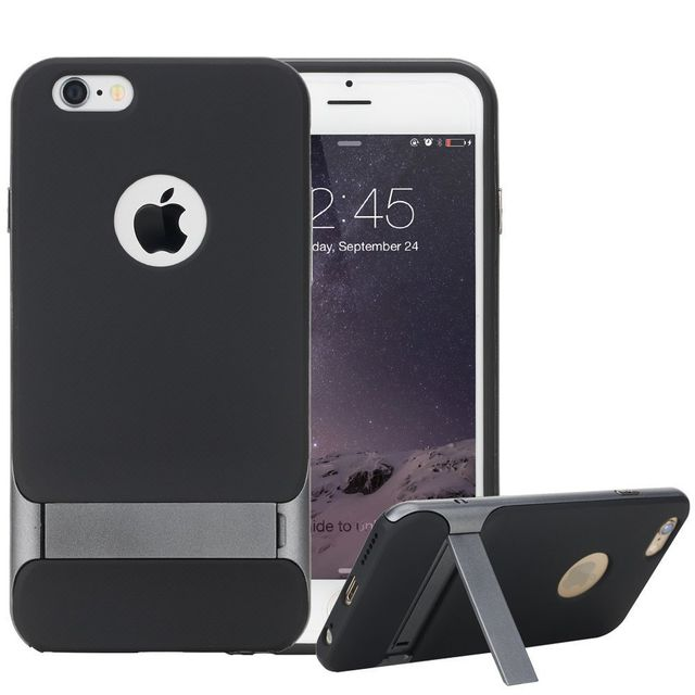 Apple iPhone 6 / 6S ROCK Royce Kick Stand Cover Back Case Cover with Stand- Grey