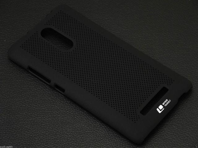 Loopeo Back Cover For Redmi Note-3-Black