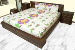 Double Bedsheet with 2 Pillow Covers - 100% Cotton
