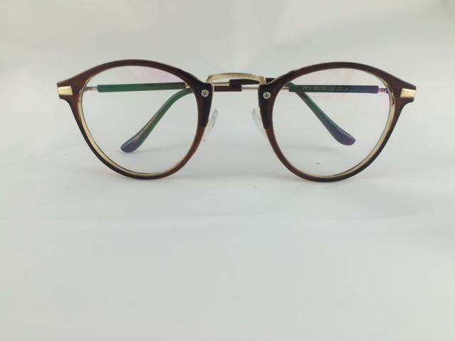 Tom Valentine Chocolate Full Frame Brow-Line Eyeglasses for men and women