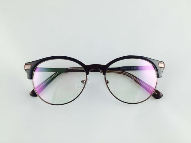 Tom Valentine Coffee & Copper Full Frame Brow-Line Eyeglasses for men and women