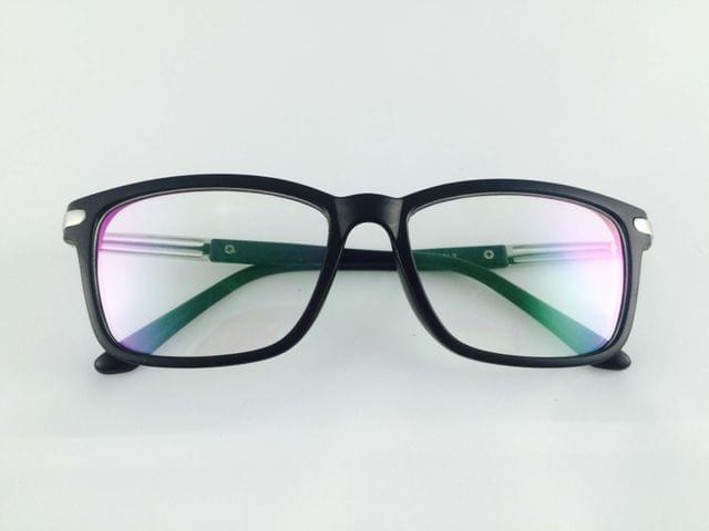 Tom Valentine Matt-Black Full Frame Brow-Line Eyeglasses for men and women