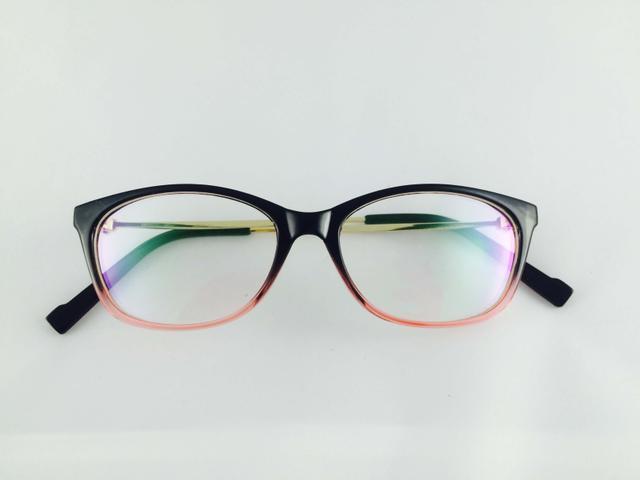 Tom Valentine Coffee & Pink & Gold Full Frame Rectro-Square Eyeglasses for men and women
