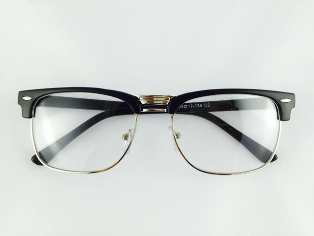 Tom Valentine Matt-Black Full Frame Rectro-Square Eyeglasses for men and women