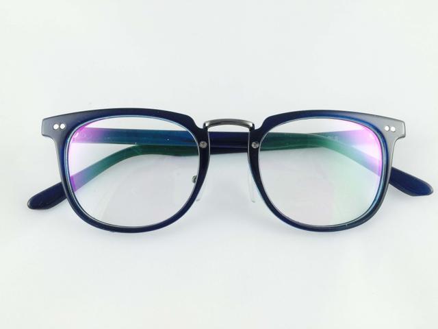 Tom Valentine Blue-Royal Full Frame Brow-Line Eyeglasses for men and women