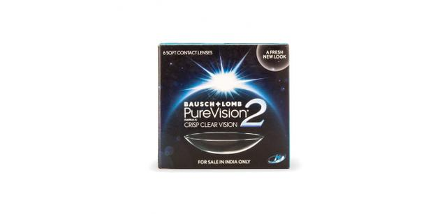 BAUSCH & LOMB - Purevision 2 hd contact lenses (6 lenses/box)