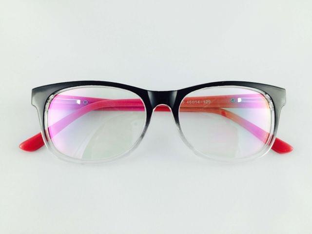 Charlie Richmond Pink & Black Full Frame Retro-Square Eyeglasses for men and women