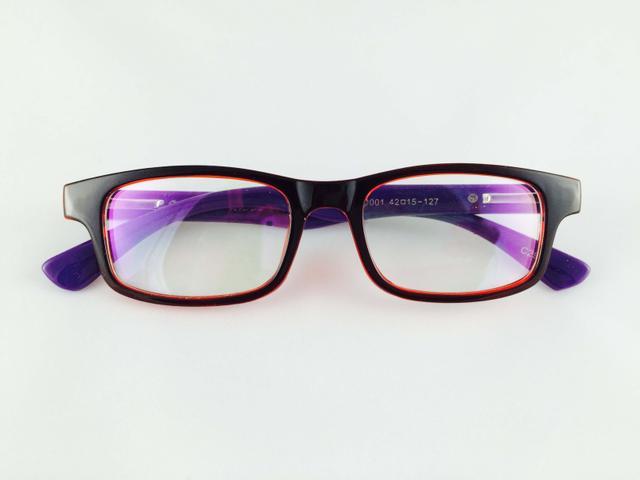 Charlie Richmond Fire & Purple Full Frame Rectangle Eyeglasses for men and women