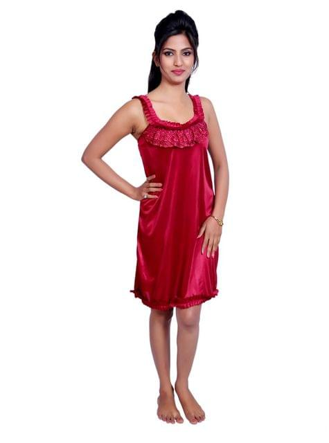 Port Women Night Wear Fabric Satin