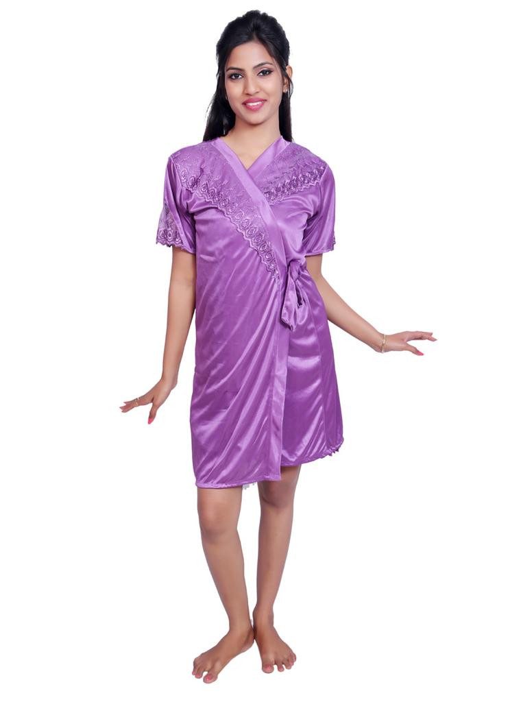 Port Women Night Wear Fabric Satin