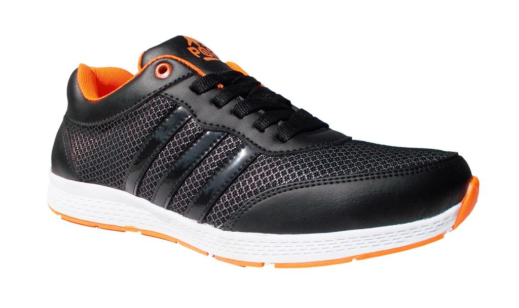 Port Black Bull Black Running Sports Shoe For Men