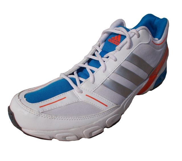 Adidas Men's White Blue Mesh Running/Gym Sports Shoes