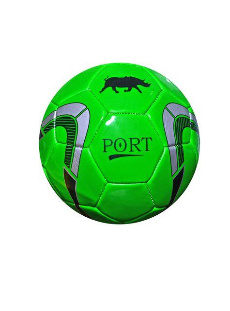 Port Men's Green Pvc Synthetic Football