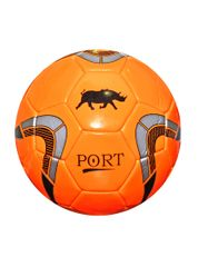 Port Men's Orange Pvc Synthetic Football