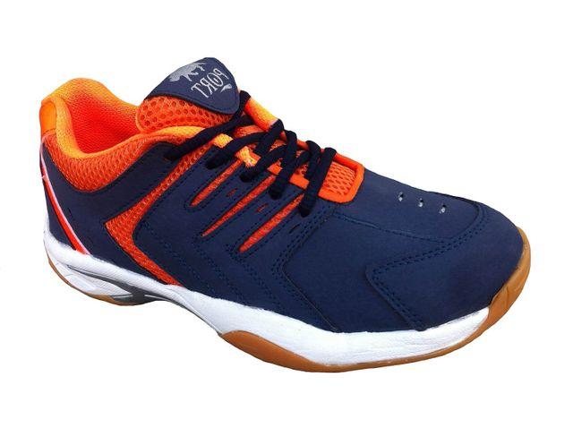 Port Men's Quantum Multicolor PU Badminton Shoes