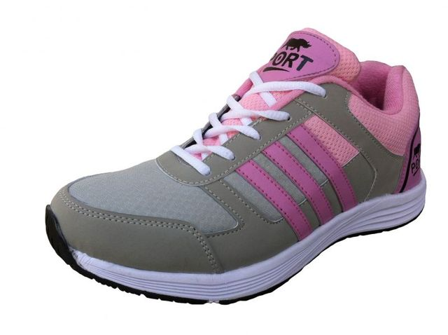 Port Women's Victory Pink Grey Sports Shoes