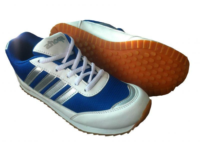 Port Girl's Wego White Blue Mesh Sports Shoes