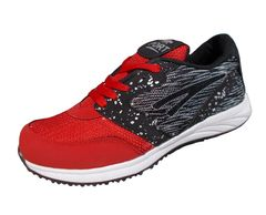 Port Men's Admir Red Mesh Ruining Shoes