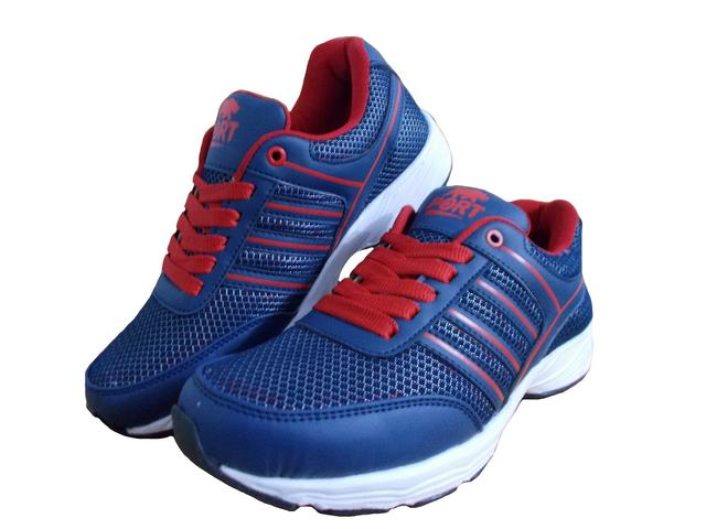 Port Men's Bulit Blue Mesh Runing Shoes