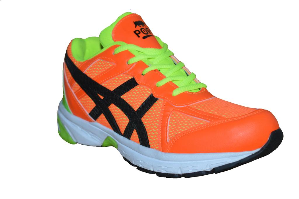 Port Men's Fuel zap Orange Mesh Runing Shoes