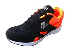 Port Men's Max Orange Mesh Runing Shoes