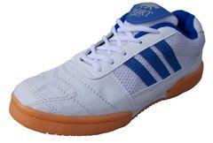 Port Men's Raxon White Blue PU Badminton Shoes