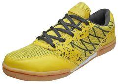 Port Men's Oxer Black Yellow PU Badmintion Shoe