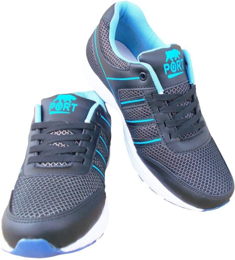Port Men's Squash  Blue Mesh Runing Shoes